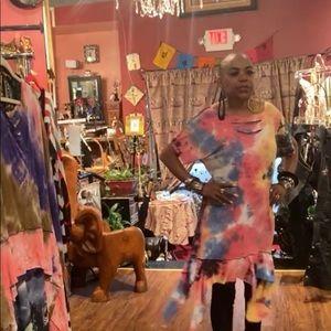 Tye Dye Mini Dress
